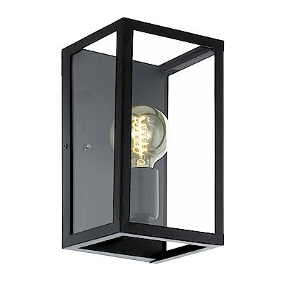 EGLO歐風燈飾 現代黑玻璃造型壁燈(不含燈泡)