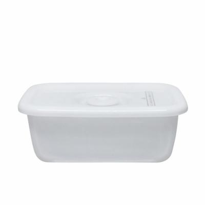 野田琺瑯 White Series系列長型密封盒(樹脂蓋.0.38L)