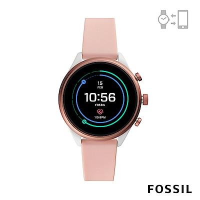 FOSSIL SPORT 運動智能錶-41MM 粉裸色矽膠 FTW6022