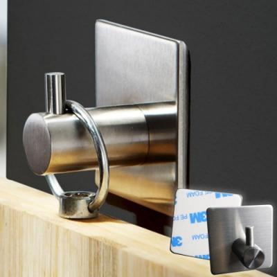 EZlife304不鏽鋼強力掛鉤 4入組(贈床單固定夾1組)