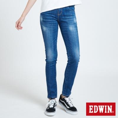 EDWIN MISS EDGE 紅線窄管牛仔褲-女-石洗藍
