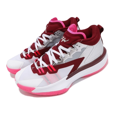 Nike 籃球鞋 Jordan Zion 1 PF 運動 男鞋 喬丹 明星款 避震 包覆 支撐 球鞋 銀 粉 DA3129100
