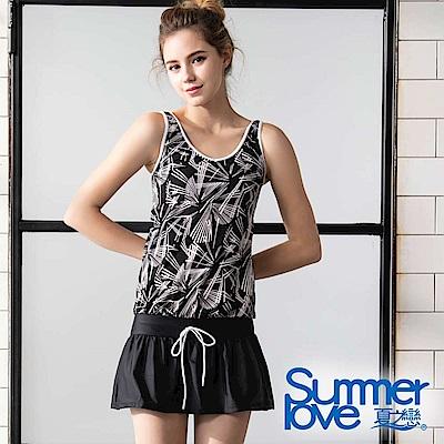 夏之戀SUMMERLOVE 大女連身裙二件式泳衣-加大碼