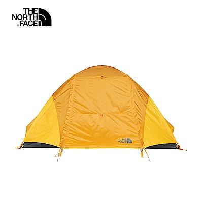 The North Face北面男女款橙灰色防風防水透氣兩人帳篷 3BYH3QM