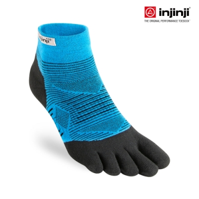 【INJINJI】RUN 輕量吸排五趾短襪[水藍] 五指襪 短襪 運動襪 五趾襪