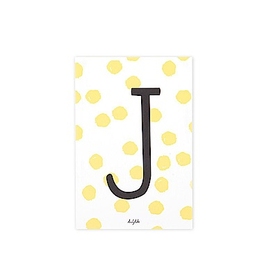 Dailylike 英文字母插畫明信片-10 J