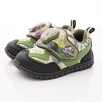 侏羅紀公園童鞋 恐龍電燈運動鞋款 EI3032綠(中小童段)