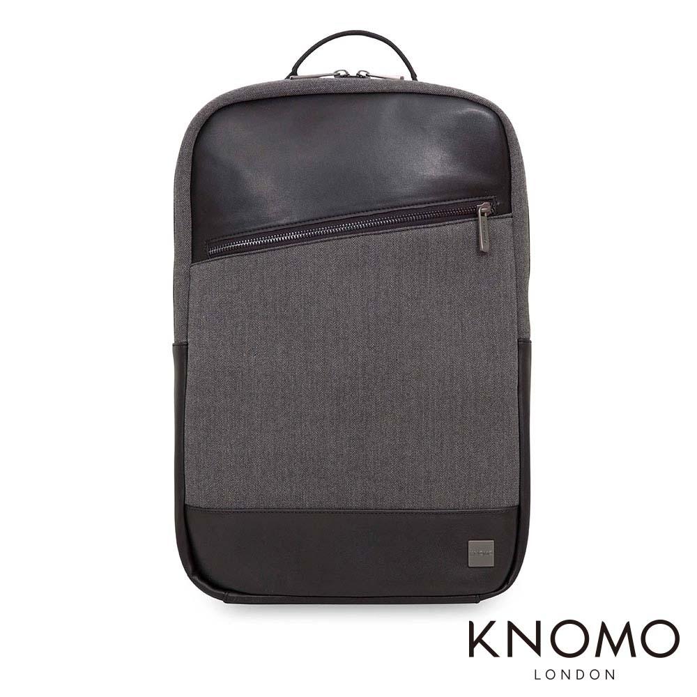 KNOMO 英國 Southampton 電腦後背包 - 黑灰 15.6 吋