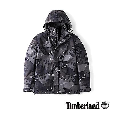 Timberland 男款灰色隱形迷彩打印三合一 防水外套|A1NCP