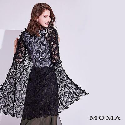 MOMA 葉子蕾絲長版外套