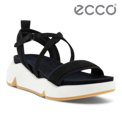 ECCO CHUNKY SANDAL 潮趣增高美背時尚涼鞋  女鞋 黑色