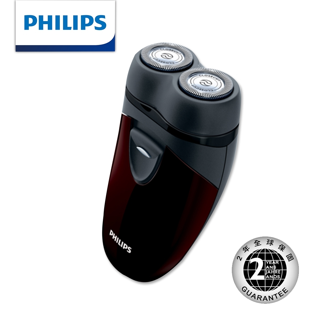 【Philips 飛利浦】勁型系列兩刀頭輕便電鬍刀 PQ206