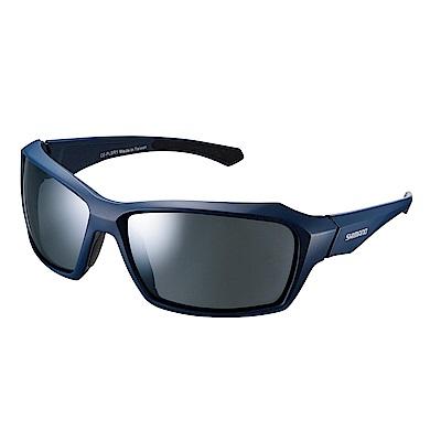 【SHIMANO】PULSAR 太陽眼鏡 霧面海軍藍色鏡框 (銀色煙燻鏡面鏡片)