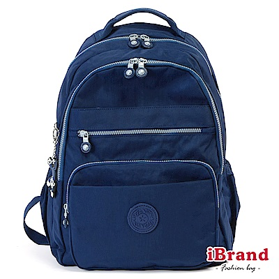 iBrand後背包 經典百搭超輕盈多口袋後背包(大)-深海藍