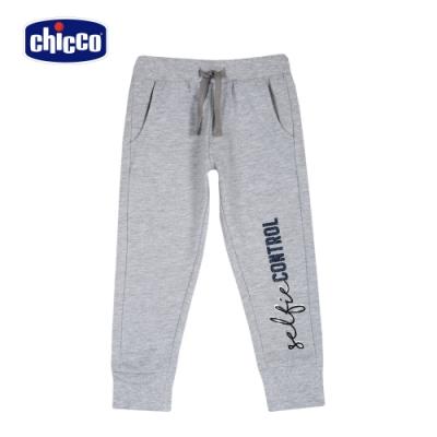 Chicco- TO BE G-英文字休閒束口長褲-灰