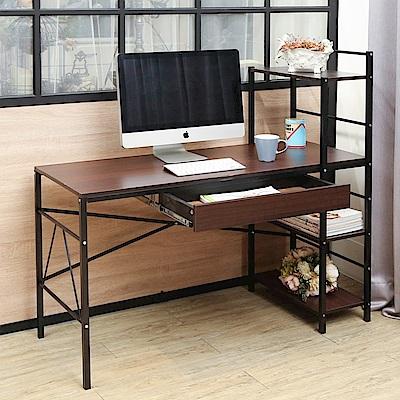 BuyJM瑞克附抽屜雙向層架工作桌/書桌寬120公分-DIY