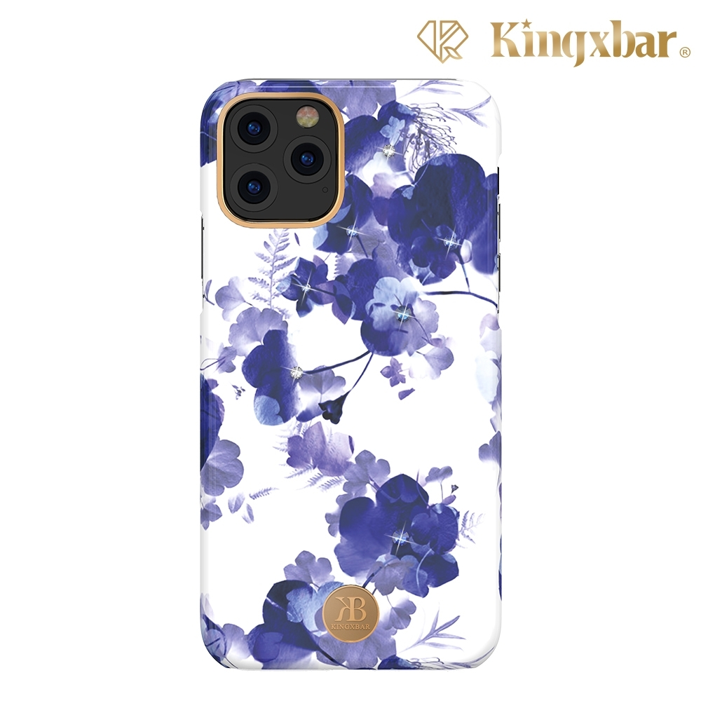 Kingxbar iPhone 11 Pro Max施華洛世奇水鑽保護殼-蘭花
