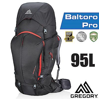 美國 GREGORY 新款 Baltoro Pro 95 專業健行登山背包(M)_火山黑