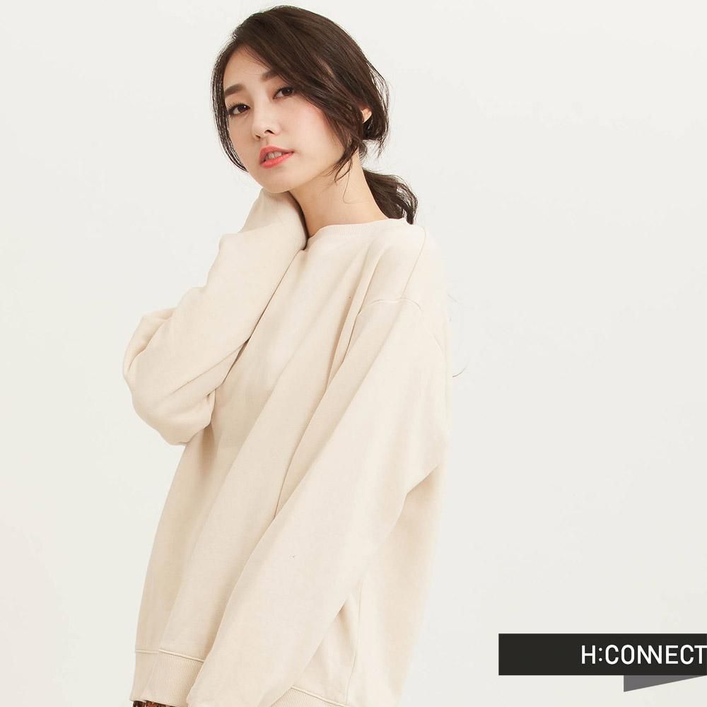 H:CONNECT 韓國品牌 女裝 -優雅古典側開衩洋裝-卡其(快)