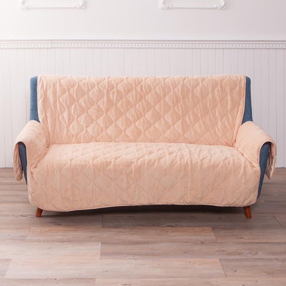 【618暖身-生活工場】DACRON DURALIFE抗菌保暖三人沙發墊-卡其
