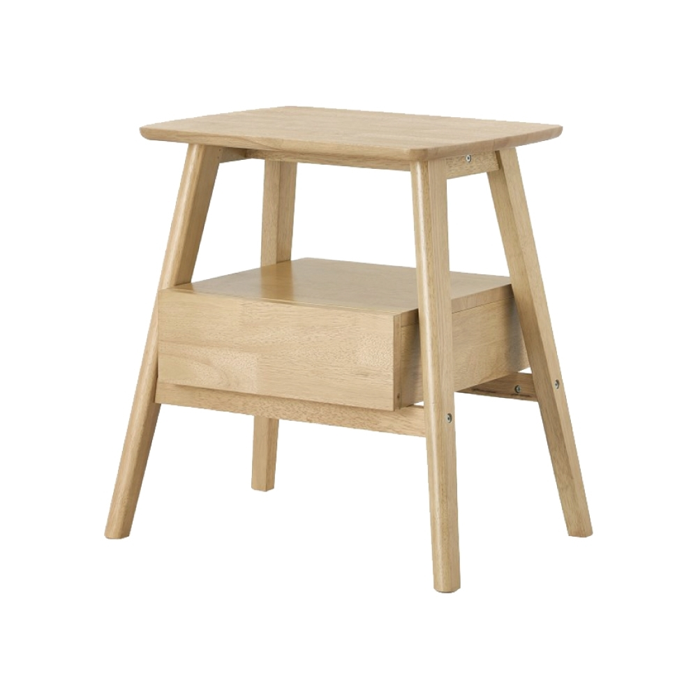 文創集 貝洛卡北歐風1.9尺單抽實木床頭櫃(純粹木語)-56.6x41x60cm免組