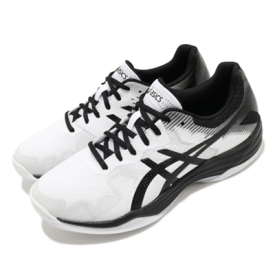 Asics 排球鞋 Gel-Tactic 2E 寬楦 男女鞋 亞瑟士 室內 吸震 回彈 耐磨 亞瑟膠 白黑 1073A032100