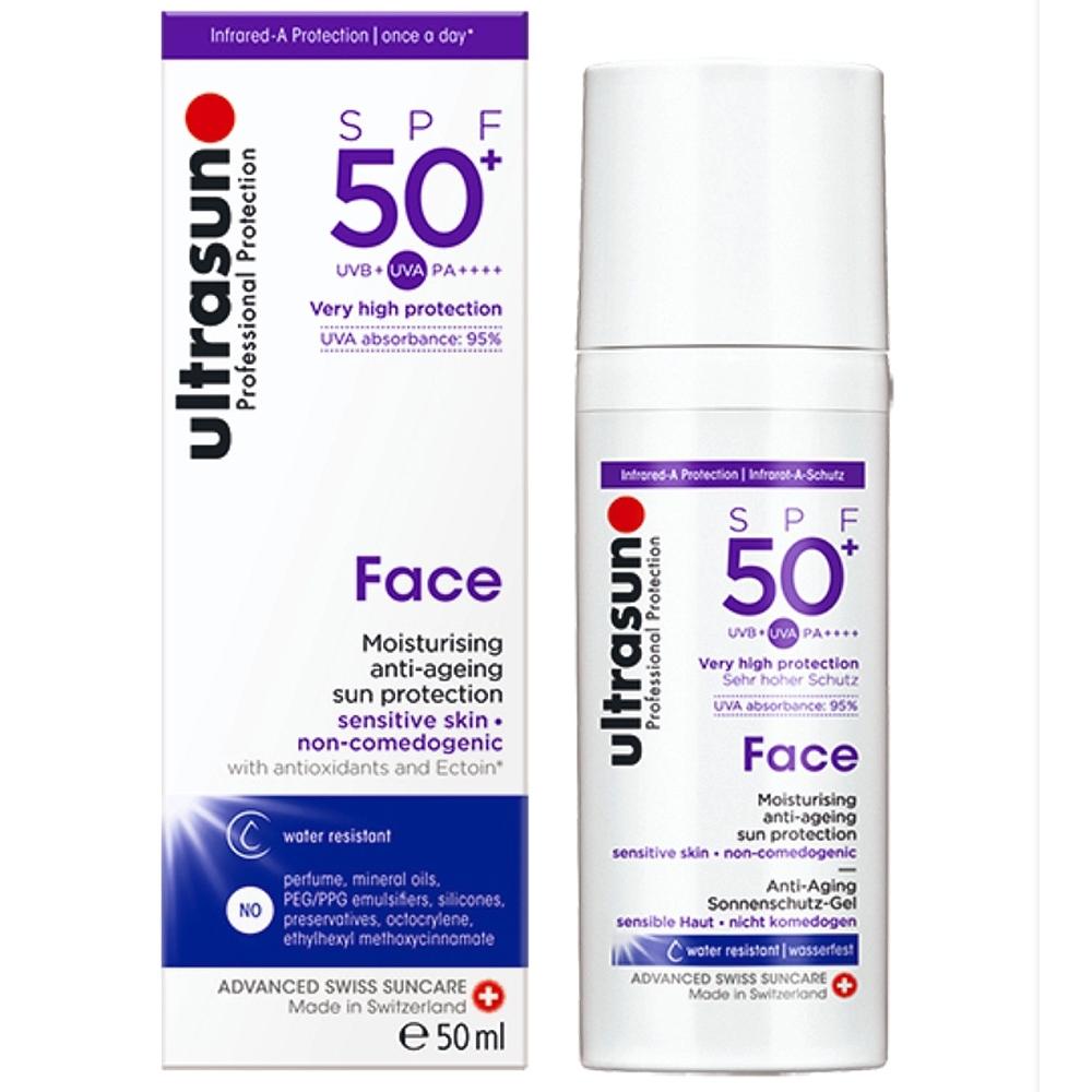 Ultrasun優佳 護顏修護防曬乳SPF50+ PA++++(50ml/罐)
