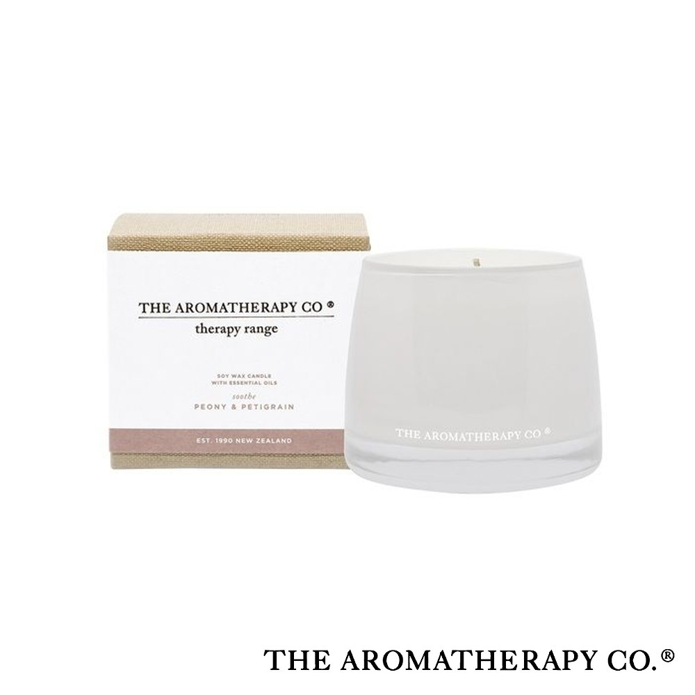 The Aromatherapy Co. 紐西蘭天然香氛 Therapy系列 玫瑰牡丹 Peony and Petitgrain 260g 香氛蠟燭