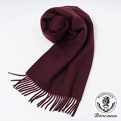 BARONECE 品味休閒質男保暖羊毛圍巾_酒紅(803612-80)