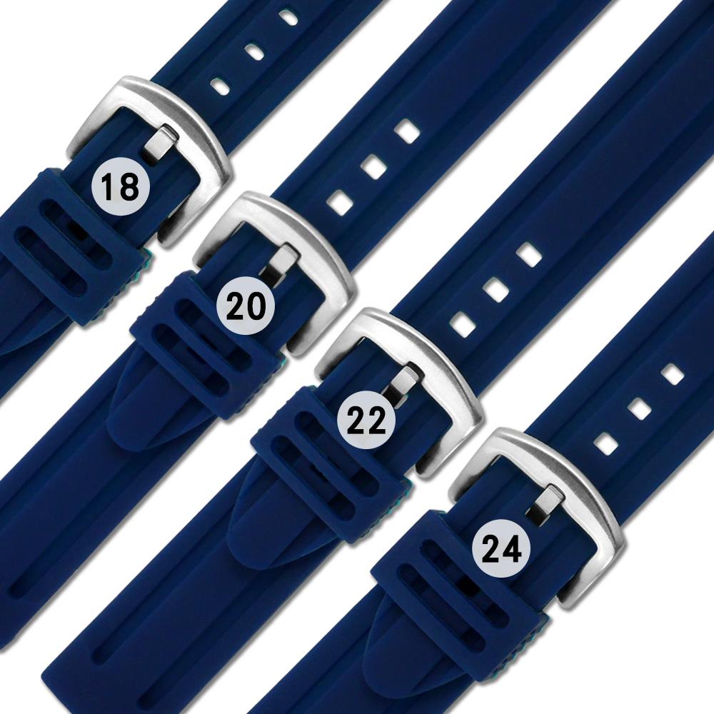 Watchband / 各品牌通用 舒適耐用 輕便 運動型 加厚矽膠錶帶 藏藍色