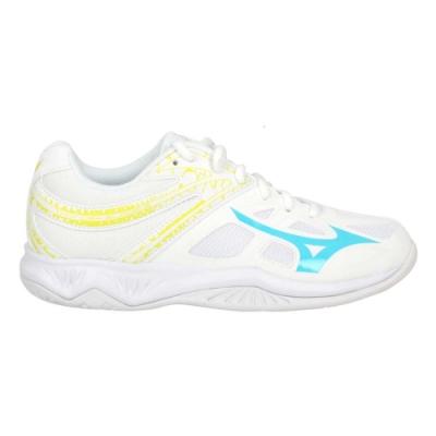 MIZUNO THUNDER BLADE 2 女排球鞋-2.5E 美津濃 V1GA197022 白黃藍