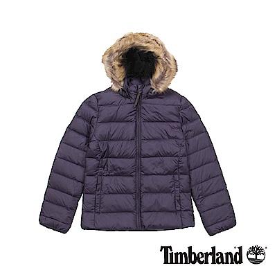 Timberland 女款紫色Mt Madison 短版羽絨夾克
