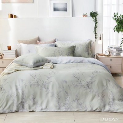 DUYAN竹漾-60支萊塞爾天絲-雙人加大床包被套四件組-御茶凝香 台灣製