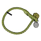BV BOTTEGA VENETA 純手工編織單環小羊皮手環(淺綠)