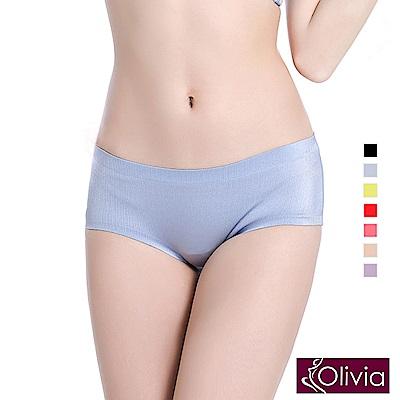 Olivia 拉絲無痕一片式中腰三角內褲-灰色