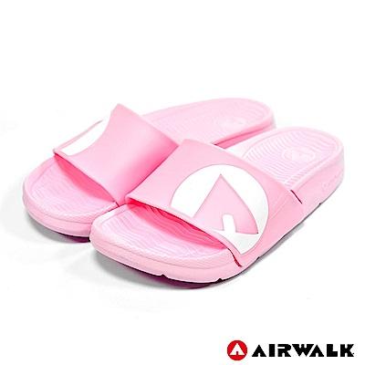 【AIRWALK】防滑耐磨室內外拖鞋-童款-淺粉