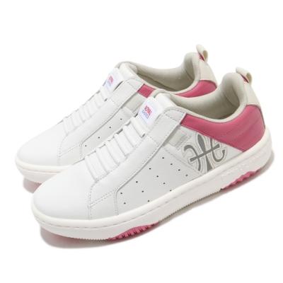 Royal Elastics 休閒鞋 Icon Manhood 2.0 女鞋 基本款 簡約 套腳 皮革 穿搭 舒適 白 粉 96502010