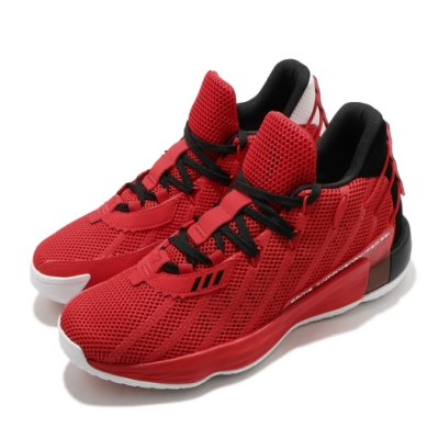 adidas 籃球鞋 Dame 7 GCA 運動 男鞋 愛迪達 三線 里拉德 透氣 球鞋 穿搭 紅 黑 FZ0206