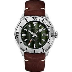 GIORGIO FEDON 1919 海洋系列200米機械錶-綠x咖啡皮帶/47mm