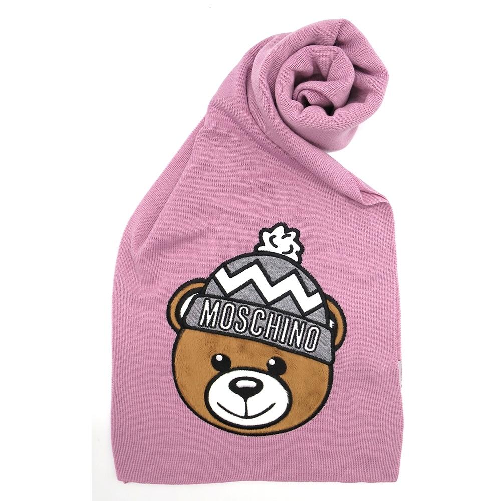 MOSCHINO 經典絨毛泰迪熊大頭圍巾 (4色)