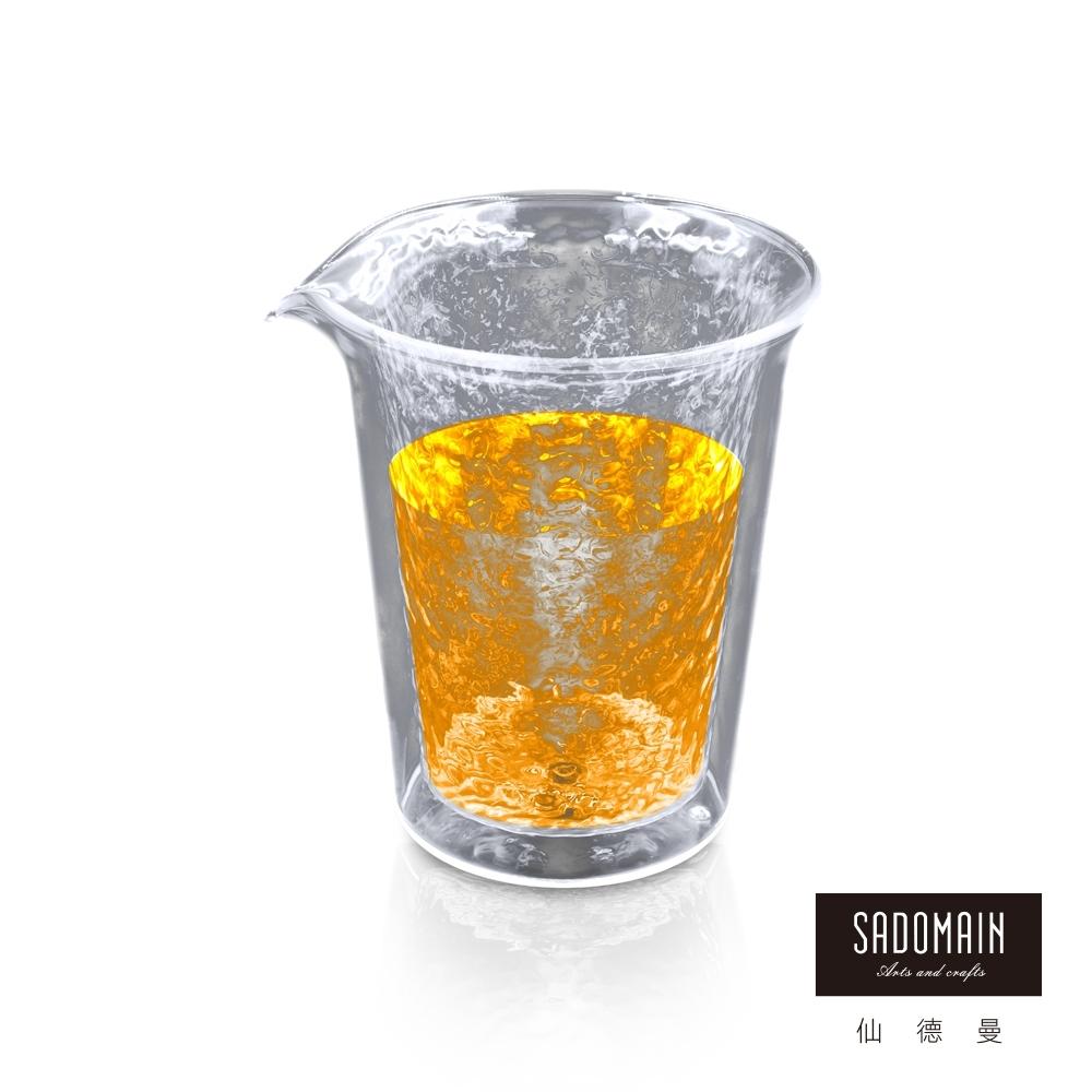 仙德曼SADOMAIN  雙層玻璃錘紋公杯(350ml)