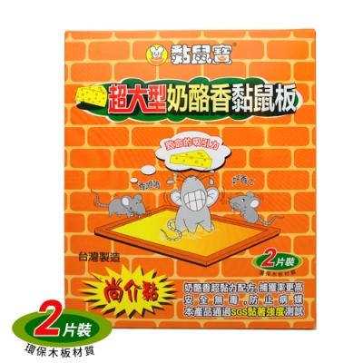 生活King 超大型奶酪香黏鼠板(2片裝) 5組入