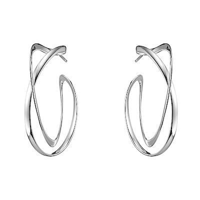 GEORG JENSEN-INFINITY 純銀圈式耳環 大