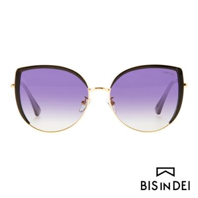 BIS IN DEI 迷人貓眼框太陽眼鏡-紫