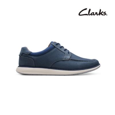 Clarks   摩登經典   Un Pilot Tie  男休閒鞋  海軍藍色  CLM49243SC20