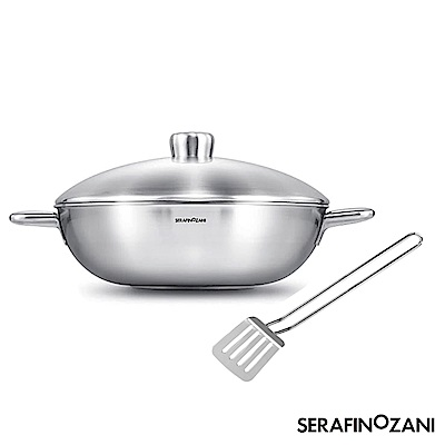 SERAFINO ZANI 尚尼 恆溫雙耳炒鍋34CM  贈送原廠不鏽鋼西式孔鏟