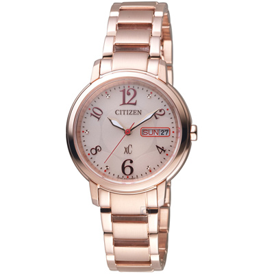 CITIZEN xC 魅力綻放光動能腕錶(EW2423-52W)-32mm