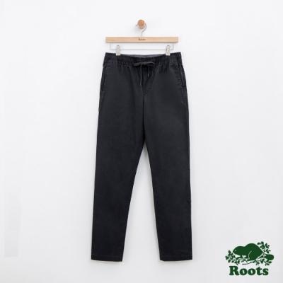 男裝ROOTS 經典休閒平織長褲-灰色