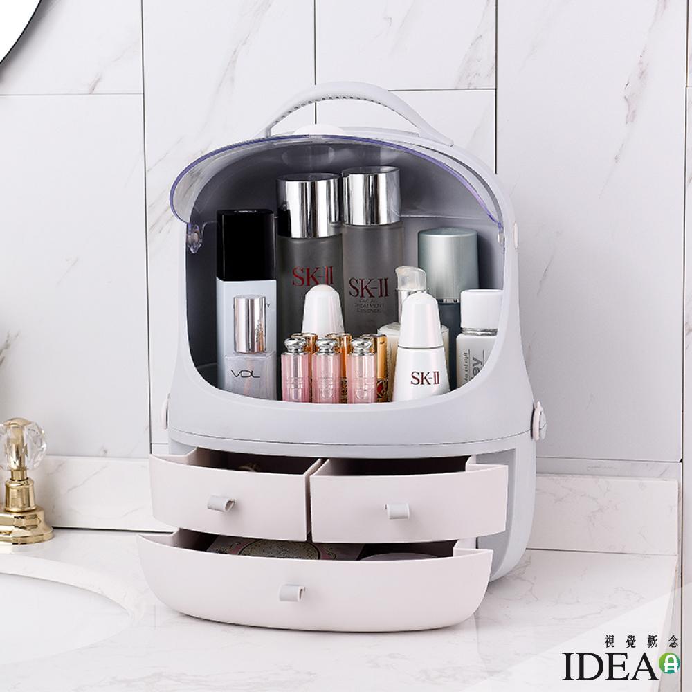 IDEA-防塵多功能化妝收納盒彩妝盒 product image 1