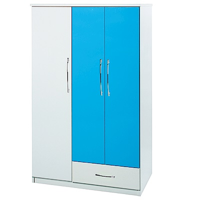 綠活居 阿爾斯環保3.5尺塑鋼單抽衣櫃(七色可選)-105x60x182cm免組